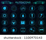 vector icons set. car service ...