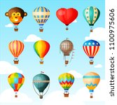 balloon vector cartoon air... | Shutterstock .eps vector #1100975606