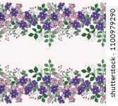 gorgeous border in small garden ...   Shutterstock . vector #1100979290