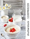 a healthy breakfast   raw... | Shutterstock . vector #1100983220