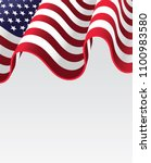 american waving flag for 4th of ... | Shutterstock .eps vector #1100983580