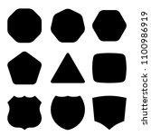 geometric shapes set | Shutterstock .eps vector #1100986919