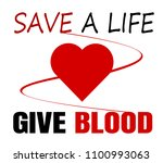 give blood save a life design | Shutterstock .eps vector #1100993063