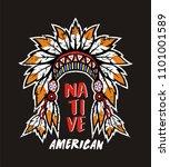 headdress  native american  for ... | Shutterstock .eps vector #1101001589