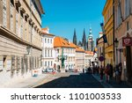 prague  czech republic   august ... | Shutterstock . vector #1101003533