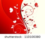abstract autumn background with ... | Shutterstock . vector #110100380