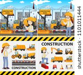 a set of construction side... | Shutterstock .eps vector #1101011444