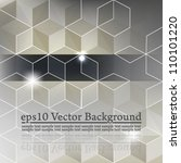 eps10 vector abstract 3d cube... | Shutterstock .eps vector #110101220