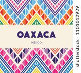 oaxaca  mexican state  colorful ... | Shutterstock .eps vector #1101012929