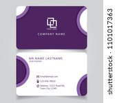 modern purple name card and... | Shutterstock .eps vector #1101017363