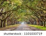 savannah  georgia  usa historic ... | Shutterstock . vector #1101033719