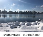 snow in false creek vancouver | Shutterstock . vector #1101034580