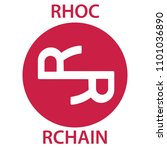rchain coin cryptocurrency... | Shutterstock .eps vector #1101036890