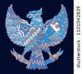 batik culture on garuda... | Shutterstock .eps vector #1101042839