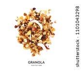 creative layout made of granola ... | Shutterstock . vector #1101043298