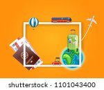 travel concept. frame for a... | Shutterstock .eps vector #1101043400