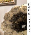close up vintage speaker pattern | Shutterstock . vector #1101058676