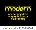 vector of modern bold font and... | Shutterstock .eps vector #1101060569