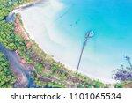 aerial sea view of beautiful... | Shutterstock . vector #1101065534