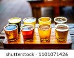 beer tasting paddle  | Shutterstock . vector #1101071426