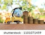 miniature truck carry world... | Shutterstock . vector #1101071459