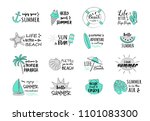 summer vacations   collection... | Shutterstock .eps vector #1101083300