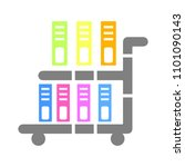 vector book cart illustration   ... | Shutterstock .eps vector #1101090143