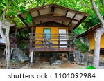 bungalow on the beach.   Shutterstock . vector #1101092984