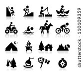 recreation icons | Shutterstock .eps vector #110109359