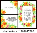 vintage delicate invitation...   Shutterstock . vector #1101097280