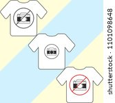 t shirt template  model with... | Shutterstock .eps vector #1101098648