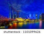 singapore city  singapore  ... | Shutterstock . vector #1101099626