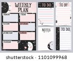 weekly and daily planner... | Shutterstock .eps vector #1101099968
