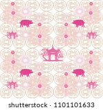 seamless pattern with chinese... | Shutterstock .eps vector #1101101633