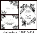 romantic invitation. wedding ... | Shutterstock .eps vector #1101104114