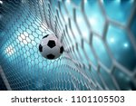 3d rendering soccer ball in... | Shutterstock . vector #1101105503
