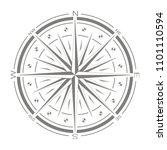 vector icon with compass rose... | Shutterstock .eps vector #1101110594