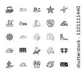 sea icon. collection of 25 sea... | Shutterstock .eps vector #1101111440