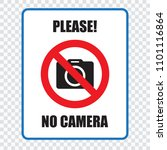 no cameras allowed sign. red... | Shutterstock .eps vector #1101116864