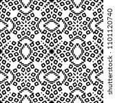 black and white seamless ethnic ... | Shutterstock .eps vector #1101120740