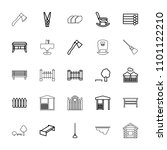 wooden icon. collection of 25... | Shutterstock .eps vector #1101122210