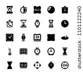 clock icon. collection of 25... | Shutterstock .eps vector #1101122240