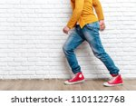 young fashion man's legs in... | Shutterstock . vector #1101122768