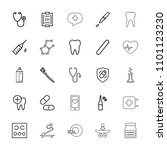 medicine icon. collection of 25 ... | Shutterstock .eps vector #1101123230