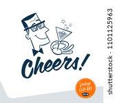 vintage style clip art   mid... | Shutterstock .eps vector #1101125963
