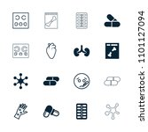 disease icon. collection of 16... | Shutterstock .eps vector #1101127094