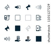 mp3 icon. collection of 16 mp3... | Shutterstock .eps vector #1101127229