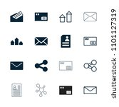 send icon. collection of 16... | Shutterstock .eps vector #1101127319