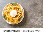 french fries with sauce  ... | Shutterstock . vector #1101127790