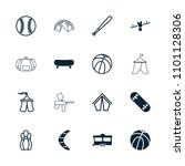 recreation icon. collection of... | Shutterstock .eps vector #1101128306